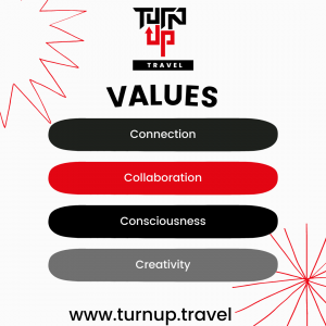 Our values at Turnup.travel